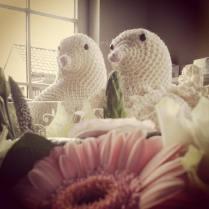 Tortelduifjes voor een net getrouwd koppel - gratis engels Patroon op het net