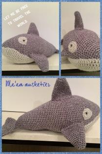 """Walvis uit """"knuffels en speelgoed haken"""""""